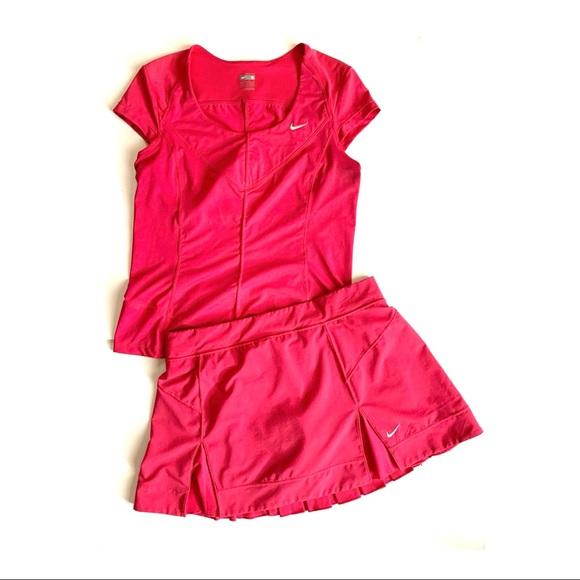 NIKE FitDry Pink Tennis Top & Skirt Set